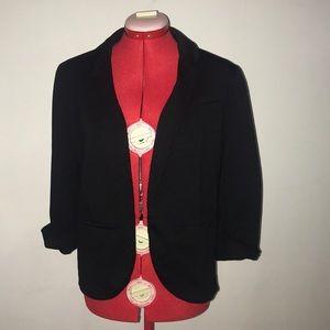 Lauren Conrad black open front blazer